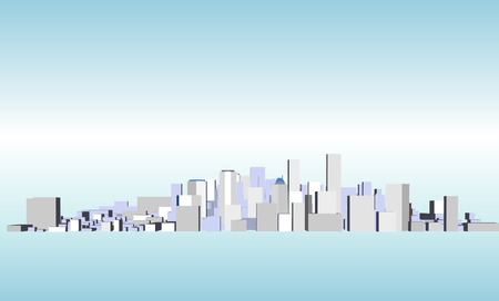 realización: Vector paisaje urbano
