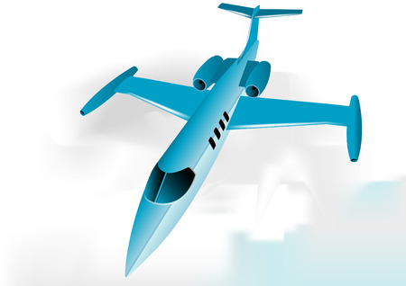 takeoff: Learjet fully editable vector image Illustration