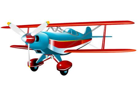 航空ショー: 曲技飛行の飛行機  イラスト・ベクター素材