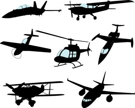 oorkonde: (Sommige uiterst gedetailleerde) vector Aircraft Stock Illustratie