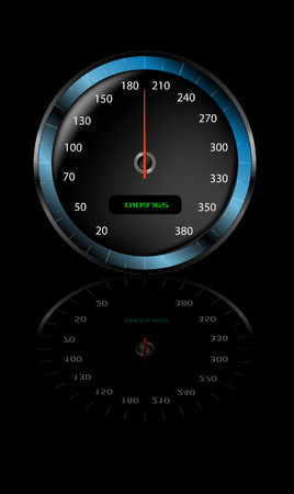 Speedometer with gradient mesh. Well worth zooming in on to have a look at the detail.