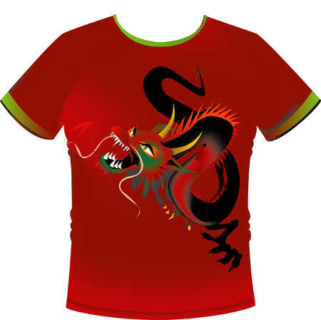 Vector T-shirt with Dragon Motif Stock Vector - 3173822
