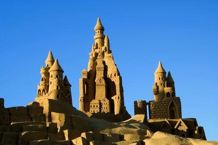 chateau de sable: Sand Castle cr�ations dans le sud du Portugal  Banque d'images