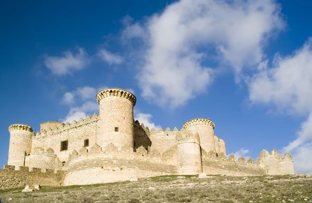 Belmonte Castle (Castillo de Belmonte) in Belmonte, Cuenca province, Castilla La Mancha, Spain.  Located approximately 150km southeast of Madrid, this fortress-palace from the 15th century, it is the best preserved castle in the Community of Madrid