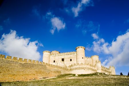 cuenca: Belmonte Castle (Castillo de Belmonte) in Belmonte, Cuenca province, Castilla La Mancha, Spain.  Located approximately 150km southeast of Madrid, this fortress-palace from the 15th century, it is the best preserved castle in the Community of Madrid