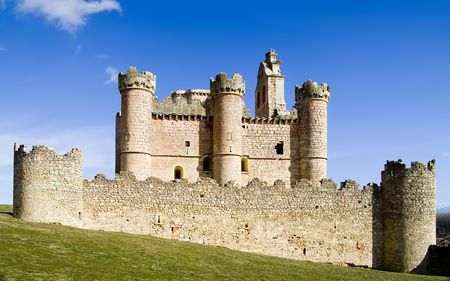 castilla: Turegano Castle (Castillo de Turegano) in Segovia province, Castilla Leon, central Spain. Stock Photo