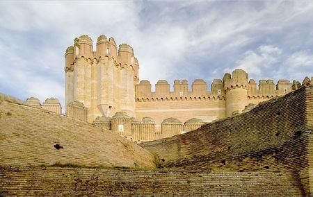 castilla leon: Coca Castle (Castillo de Coca) is a fortification constructed in the 15th century and is located in Coca in Segovia province in Castilla Leon central Spain.