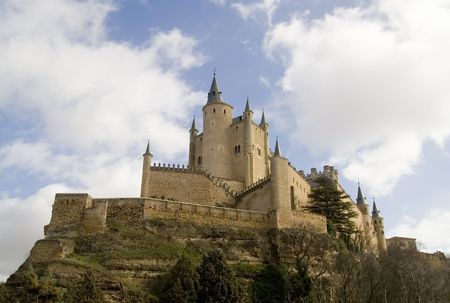 originally: The Alcazar is a 8th century castlepalace located in Segovia, Spain.  Originally built by the moors. and later modified by the Spanish kings.
