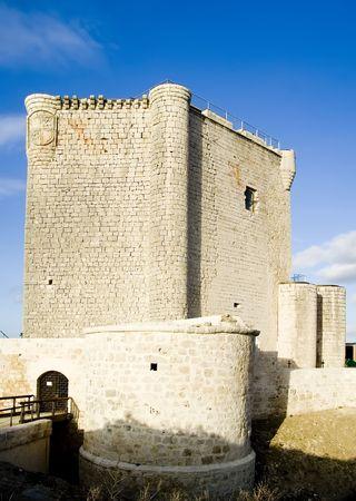 castilla leon: Castillo de Iscar in Valladolid province, Castilla Leon, central Spain.