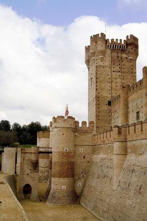 medina: Castillo de La Mota (La Mota Castle) in Medina del Campo, Valladolid province Castilla y Le�n, Spain.  Contructed between the 12th and 15th century. Stock Photo