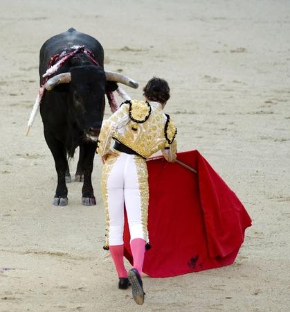 bullfighting: A torero (or matador) in the bullring