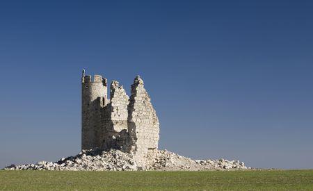 The ruins of Caudilla castle (Castillo de Caudilla) near Toledo, Castilla La Mancha, Spain photo