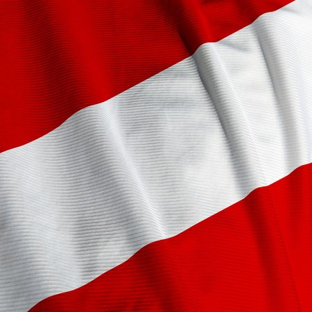 austrian: Close up of the Austrian flag, square image