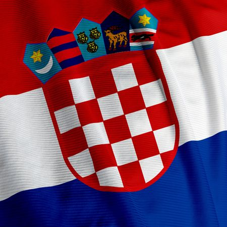croatian: Close up of the Croatian flag, square image