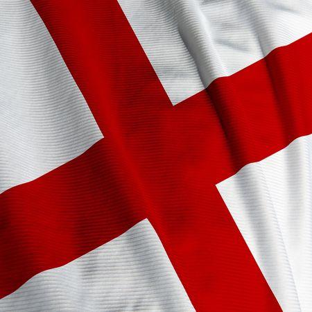drapeau anglais: Fermez-vous vers le haut du drapeau anglais, image carr�e