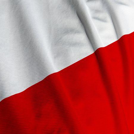 bandera de polonia: Cerca de la bandera polaca, cuadrado imagen Foto de archivo