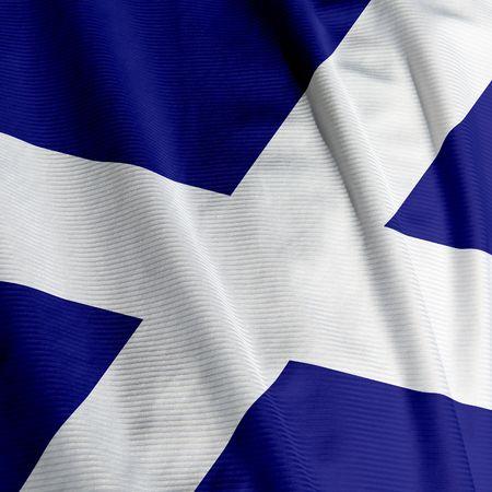 scottish flag: Chiudasi in su della bandierina scozzese, immagine quadrata