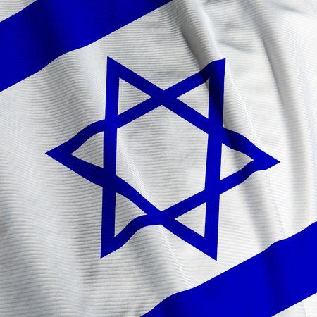 israeli: Close up of the Israeli flag, square image