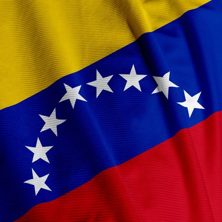 venezuela: Close up of the Venezuelan flag, square image