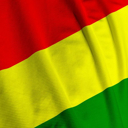 bolivian: Close up of the Bolivian flag, square image