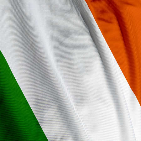 square: Close up of the Irish flag, square image