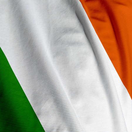 Close up of the Irish flag, square image