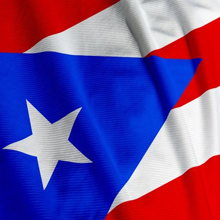 rican: Close up of the Puerto Rican flag, square image