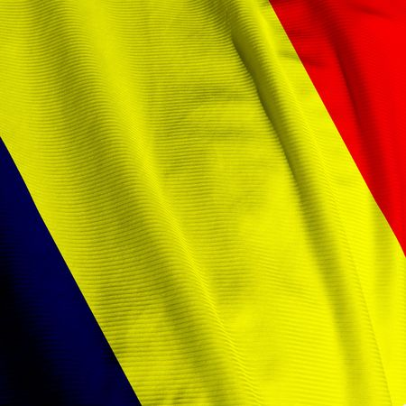 chadian: Closeup of the flag of Chad, square image