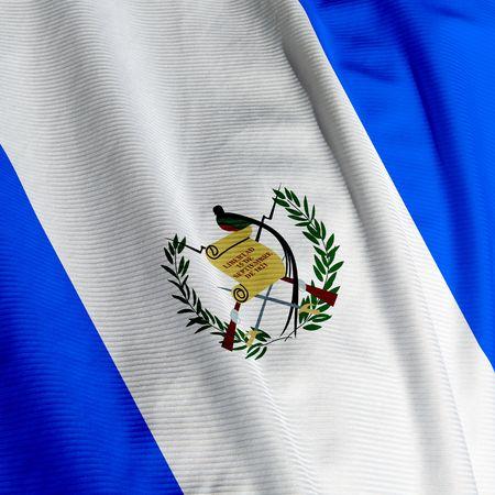Closeup of the flag of Guatemala, square image photo