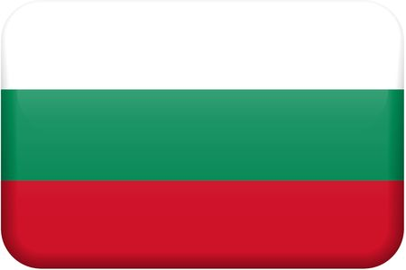 all in: Bulgarian flag rectangular button.  Part of set of country flags all in 2:3 proportion with accurate design and colors.