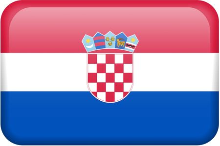 Croatian flag rectangular button.  Part of set of country flags all in 2:3 proportion with accurate design and colors. photo