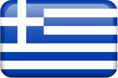 all in: Bandera griega bot�n rectangular. Una parte del conjunto de banderas de todos los pa�ses en proporci�n 2:3 con precisi�n el dise�o y colores.