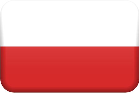 polish flag: Polish flag rectangular button.  Part of set of country flags all in 2:3 proportion with accurate design and colors.