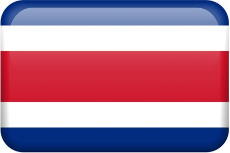 costa rican: Costa Rican flag rectangular button.  Part of set of country flags all in 2:3 proportion with accurate design and colors.