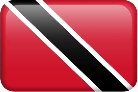 trinidadian: Trinidad and Tobago flag rectangular button.  Part of set of country flags all in 2:3 proportion with accurate design and colors.