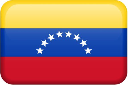 Venezuelan flag rectangular button.  Part of set of country flags all in 2:3 proportion with accurate design and colors. photo