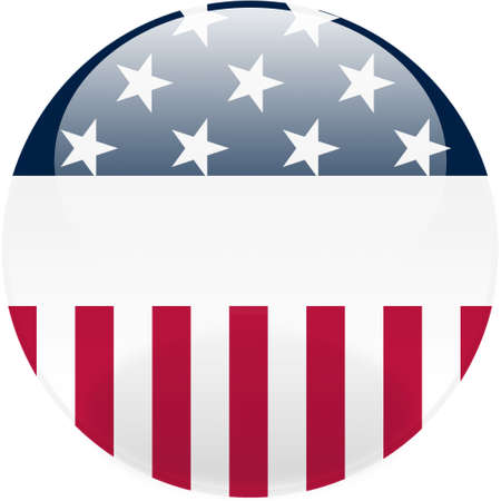 Glossy United States round button Stock Photo