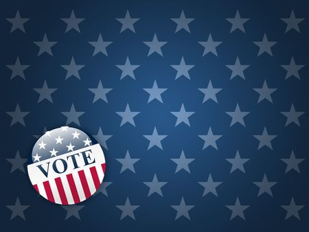 republican party: Desktop background with blue stars and vote button Stock Photo