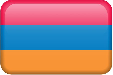 armenian: Armenian flag rectangular button.  Part of set of country flags all in 2:3 proportion with accurate design and colors.