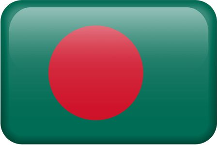 Bangladeshi flag rectangular button.  Part of set of country flags all in 2:3 proportion with accurate design and colors. photo