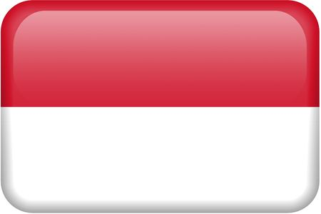 Indonesian flag rectangular button.  Part of set of country flags all in 2:3 proportion with accurate design and colors. photo