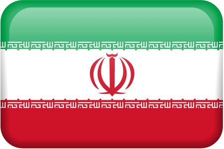 iranian: Iranian flag rectangular button.  Part of set of country flags all in 2:3 proportion with accurate design and colors.