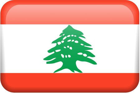 Lebanese flag rectangular button.  Part of set of country flags all in 2:3 proportion with accurate design and colors. photo