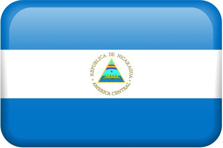nicaraguan: Nicaraguan flag rectangular button.  Part of set of country flags all in 2:3 proportion with accurate design and colors.