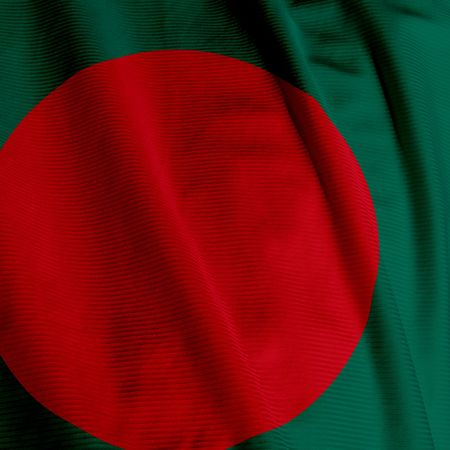 Close up of the Bangladeshi flag, square image photo