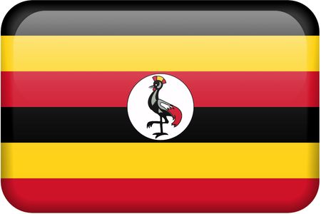 ugandan: Ugandan flag rectangular button.  Part of set of country flags all in 2:3 proportion with accurate design and colors.