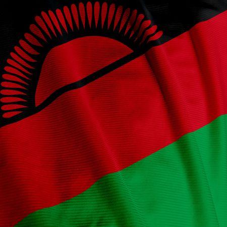 malawian flag: Close up of the flag of Malawi, square image