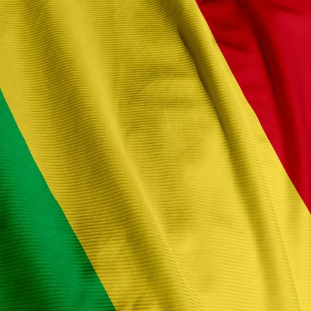 Close up of the flag of Mali, square image photo