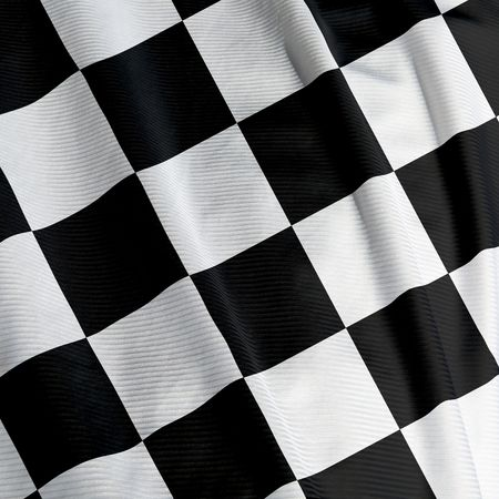 Close up of a chequered flag, square image Stock Photo - 3134321