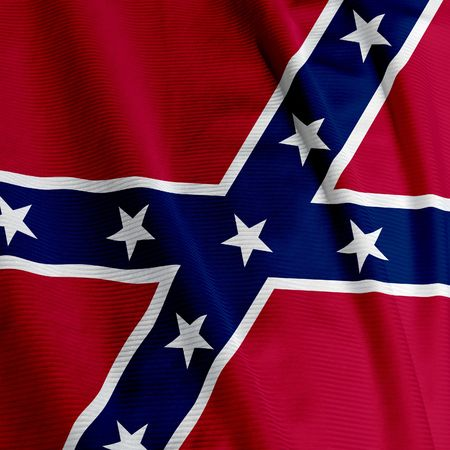 confederacy: Close up of the Confederate flag, square image